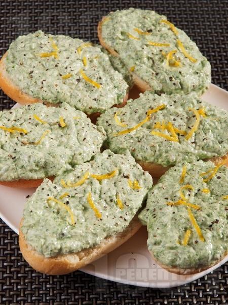 Домашен пастет от рукола и сирене Крема - снимка на рецептата